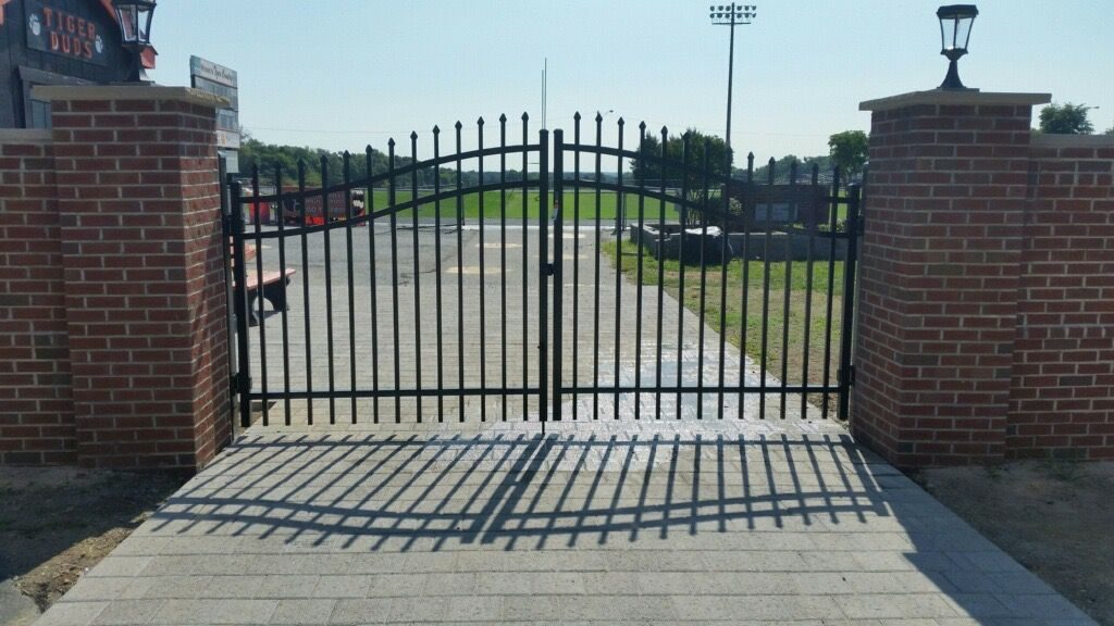 new estate gate installed at local prince william county high school