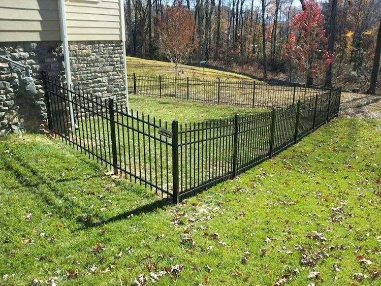 aluminum fences add beauty value and security to your home