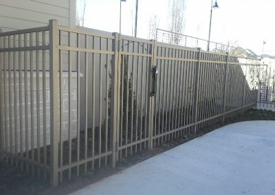 Bronze Alum Security Fence