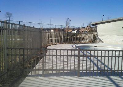 Commercial Grade Bronze Alum Fence
