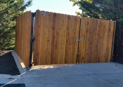 8' Solid Board Cedar Dumpster Enclosure