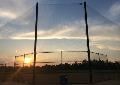 Sunset at baseball field