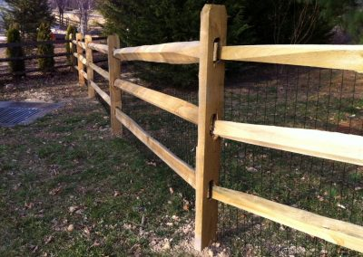 3 Rail Split Rail Wood Fence