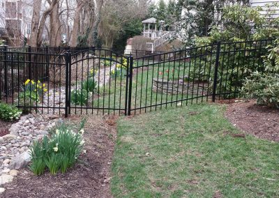 4' 3 Rail Alum with Arched Gate