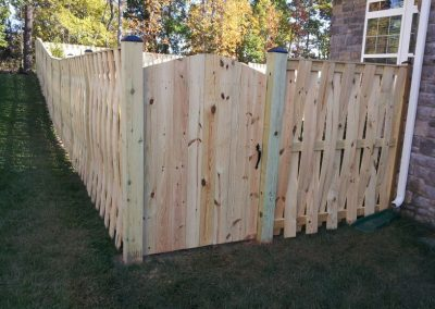 6' Basket Weave Wood Fence with Cap Board