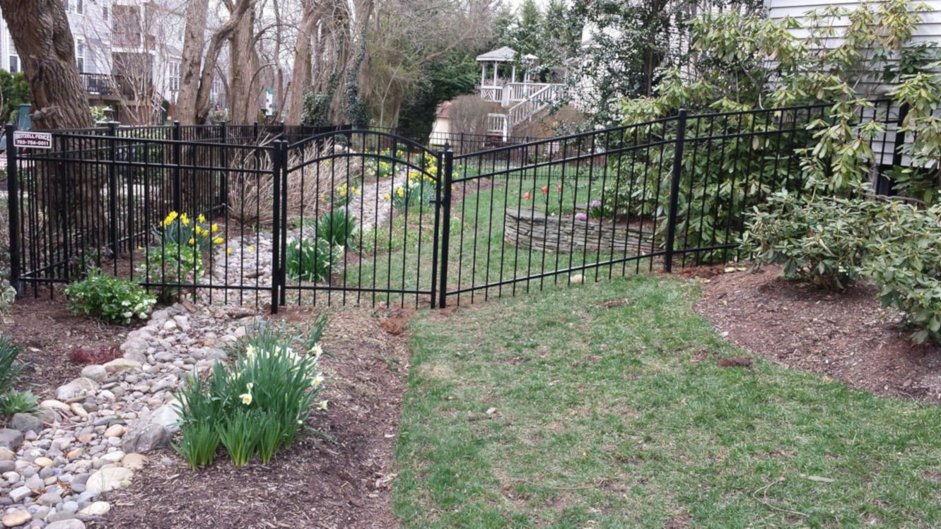 Aluminum Fence in Garden